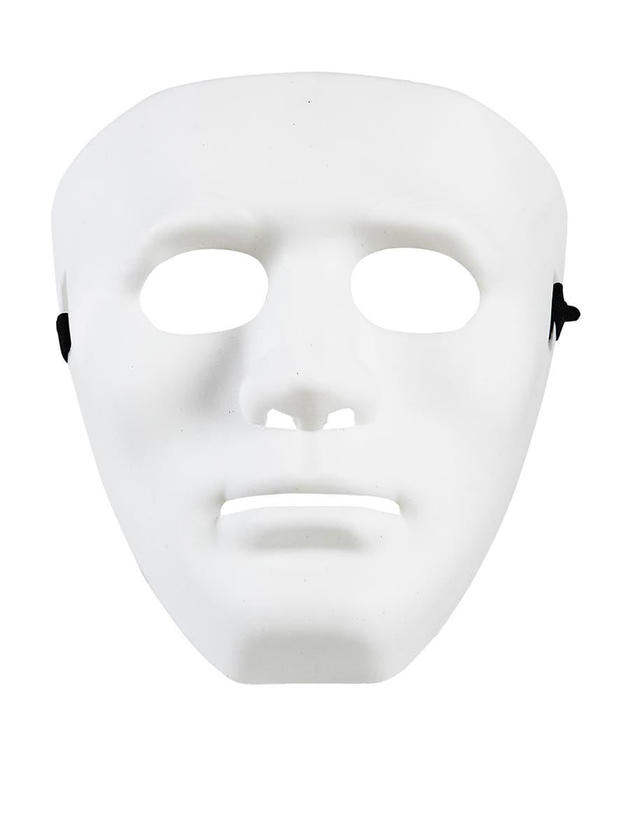 Mscara blanca de delincuente callejero disfraz Funidelia