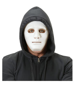 Máscara branca de delinquente da rua