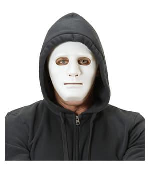 Maska biała uliczny przestępca