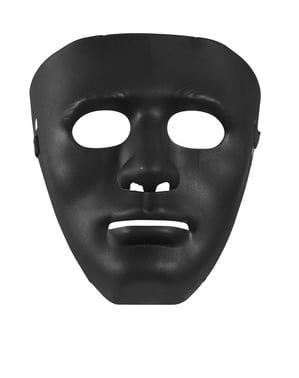 Máscara preta de delinquente da rua