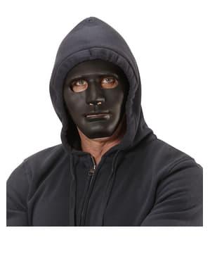 Máscara negra de delincuente callejero