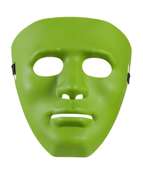 Máscara verde de delincuente callejero