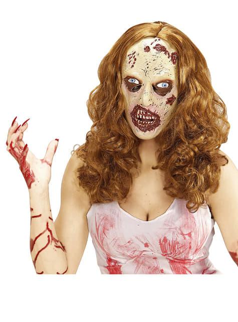 Maska dziewczyna zombie z peruka