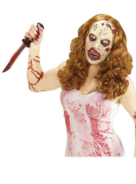Zombie Girl Mask with Wig