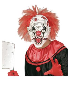Masque de clown fou zombie à cheveux