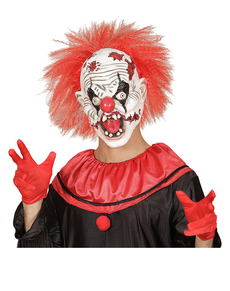 ... Máscara de payaso loco zombie con pelo 9e85defe92d1