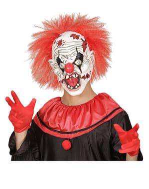 Máscara de payaso loco zombie con pelo