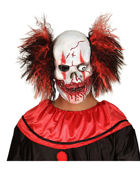 Clown skull mask with hair