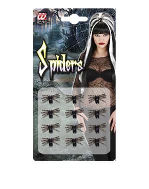 12 araignées Halloween