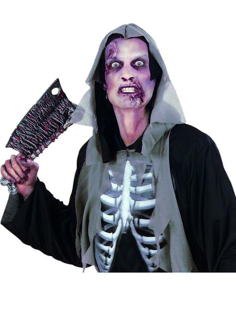 Maquillaje prótesis piel de zombie