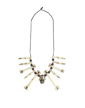 Voodoo čarodejnice Bone náhrdelník