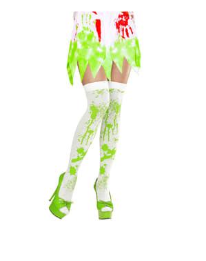 Medias con sangre verde de zombie