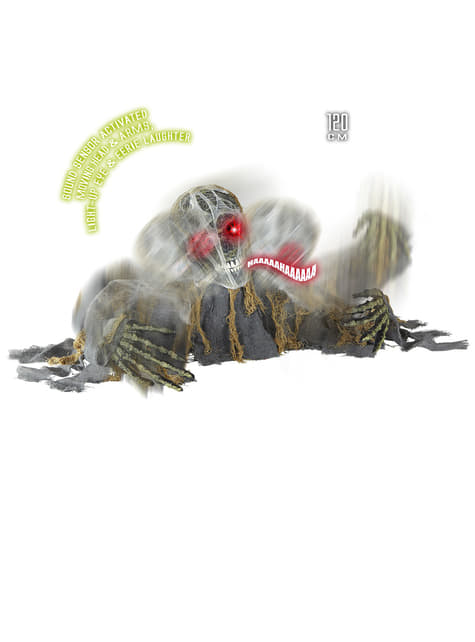Zombie Skelett aus dem Boden brechend