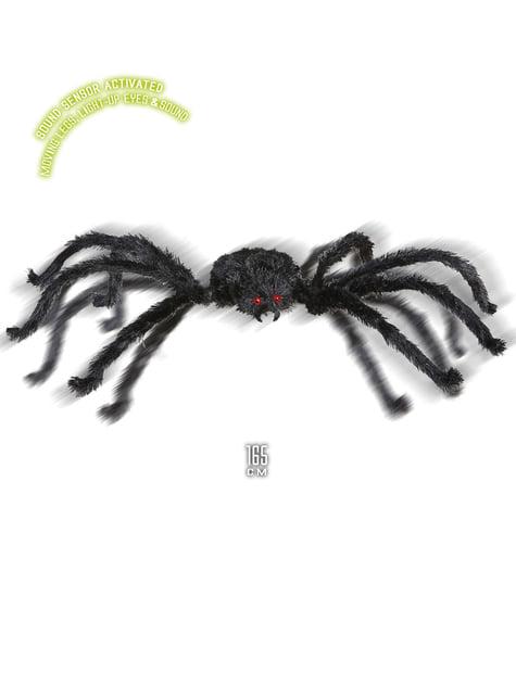 Araña gigante con ojos luminosos y sonido