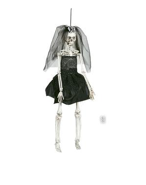 Noiva esqueleto pingente