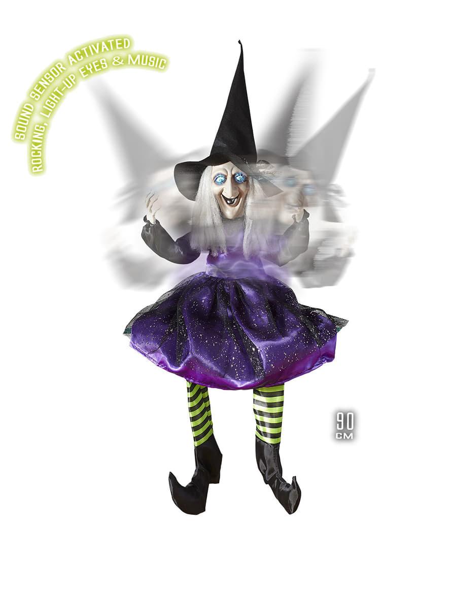 Sitzende Hexe Als Dekoration F R Halloween Funidelia