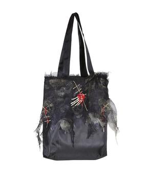 Bolso zombie con calaveras