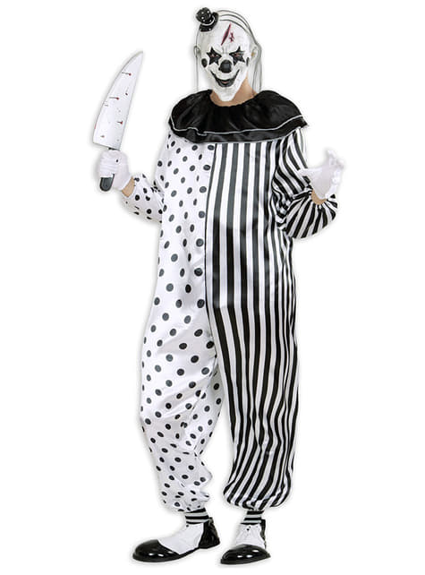 Mens Harlequin Killer Clown Costume