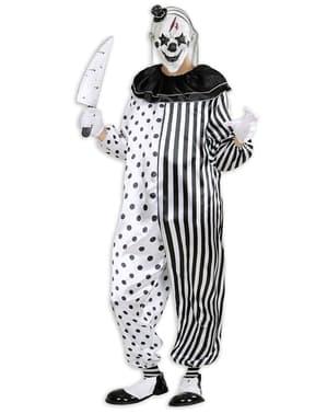 Costum de clovn arlechin asasin pentru bărbat