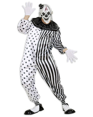 남성 Harlequin Killer Clown Costume