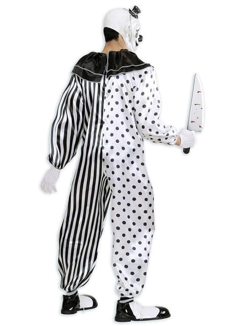 Disfraz de payaso arlequín asesino para hombre - original