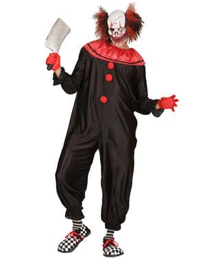 Costume da pagliaccio assassino rosso e nero da uomo