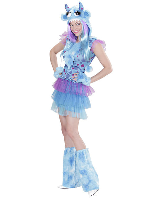 Womens Blue Monster Costume