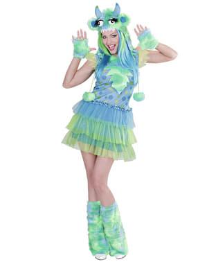 Fato de monstro verde para mulher