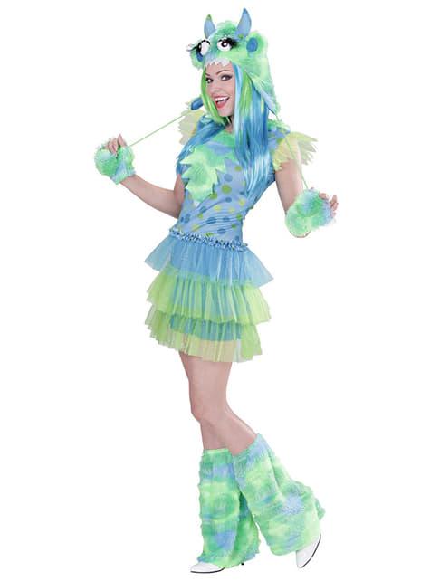 Strój zielony potwór damski
