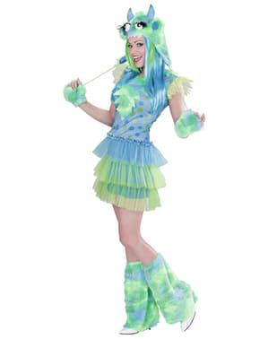 Monsterpige kostume grønt til kvinder