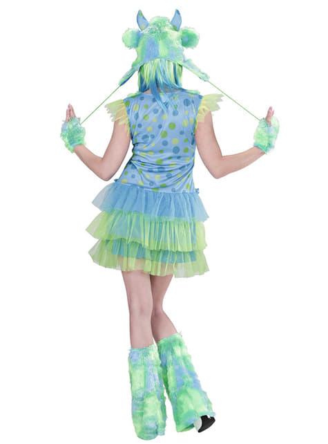 Disfraz de monstruo verde para mujer