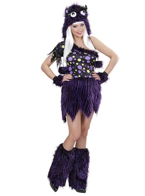 Disfraz de monstruo violeta y negro para mujer - mujer