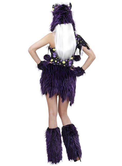 Disfraz de monstruo violeta y negro para mujer - original