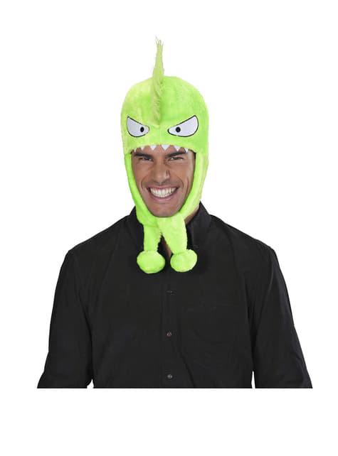 Čepice zelená příšerka