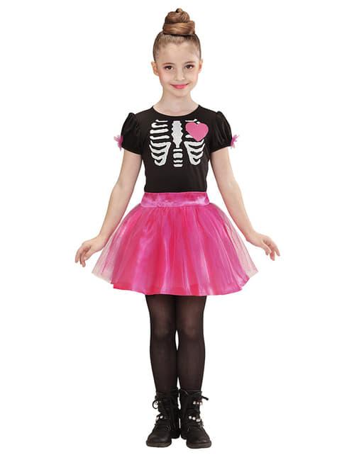 Strój tancerka szkielet dla dziewczynki