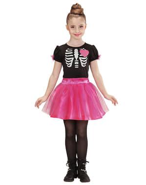 Fato de bailarina esqueleto para menina