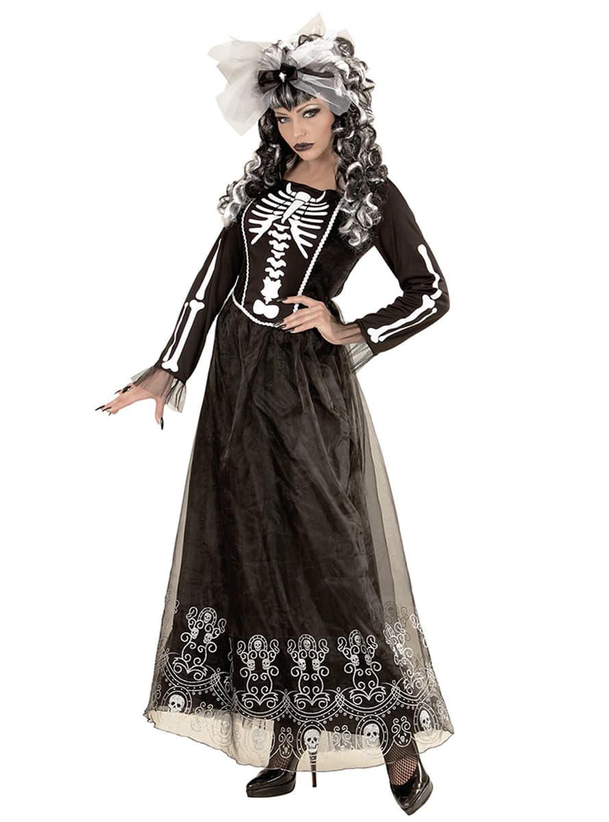skelett dame kost m f r damen funidelia. Black Bedroom Furniture Sets. Home Design Ideas