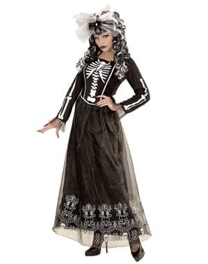 Fato de dama esqueleto para mulher
