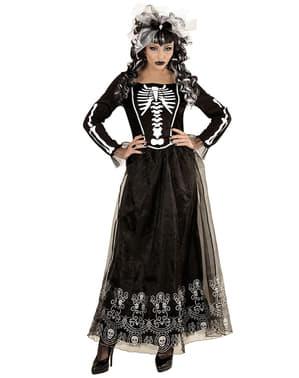 Skeletdame kostume til kvinder