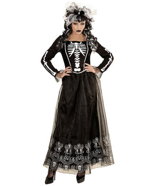 Womens Lady Skeleton Costume