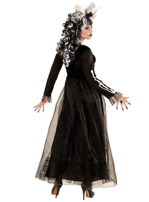 Disfraz de dama esqueleto para mujer - original
