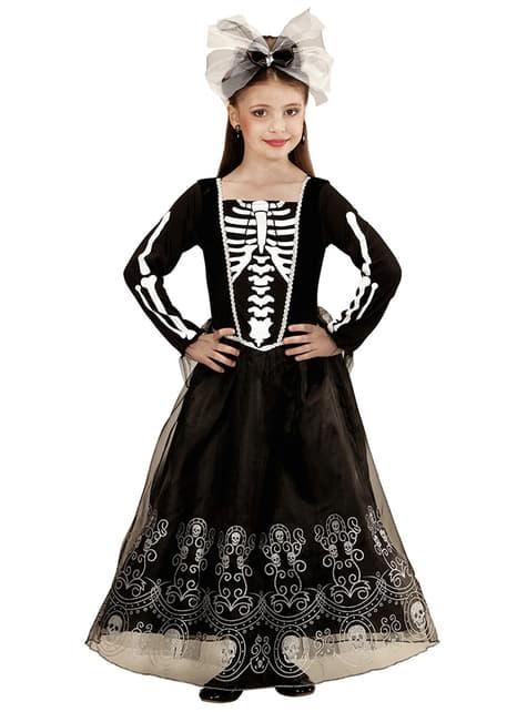 Skelett dam Maskeraddräkt Barn