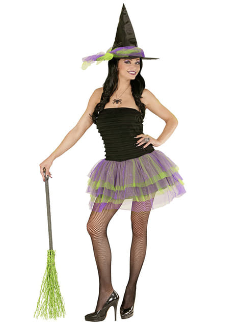 Disfraz de bruja sexy glow para mujer