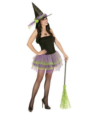 Skinnende heks kostume til kvinder