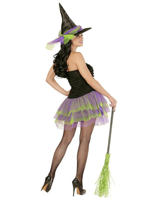 Disfraz de bruja sexy glow para mujer - original