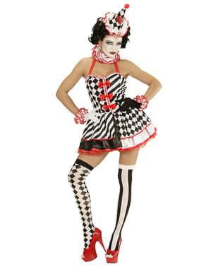 Pin up harlekijn kostuum voor vrouw