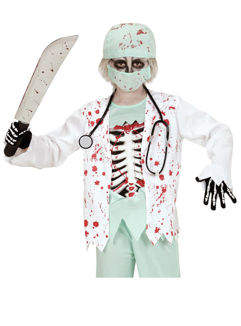 Guantes de esqueleto huesudo infantiles