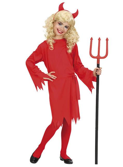 Girls Fire She Devil Costume