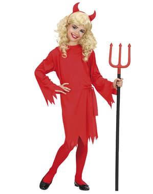 Costum de diavoliță de foc pentru fată