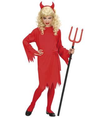Teufelin des Feuers Kostüm für Mädchen